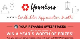 Younkers Your Rewards Sweepstakes 2017 (Younkers.com/Thanks)