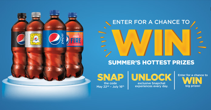 pepsi fire sweepstakes snap unlock win big prizes