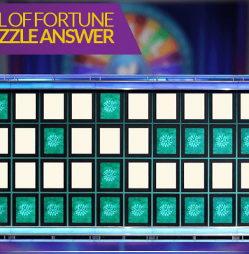 Wheel Of Fortune Bonus Puzzle Answer