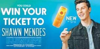 Izze Fusions Shawn Mendes Illuminate Sweepstakes