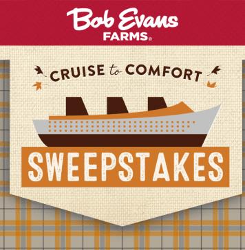 2017 Bob Evans Cruise To Comfort Sweepstakes