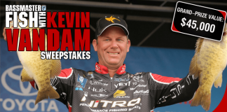 Bassmaster Fish with Kevin VanDam Sweepstakes