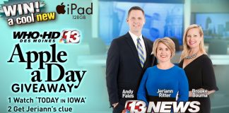 Channel 13's Apple A Day Giveaway