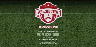 Chevron Touchdown Instant Win Game