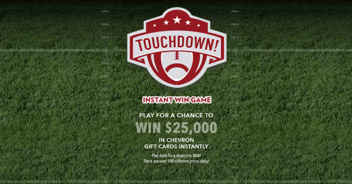Chevron Touchdown Instant Win Game