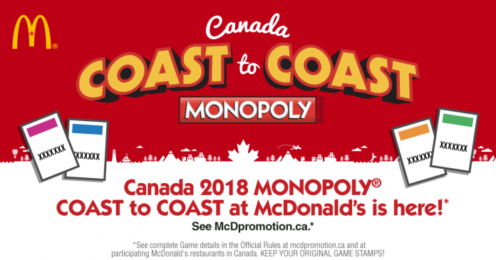 mcdonalds monopoly canada 2018 rare pieces everything you. Black Bedroom Furniture Sets. Home Design Ideas