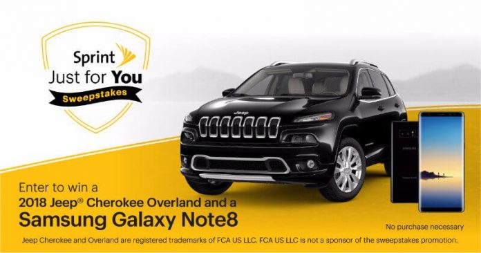 Sprint Just For You Sweepstakes