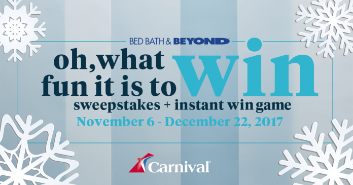 2017 Bed Bath & Beyond Oh, What Fun It Is To Win Sweepstakes