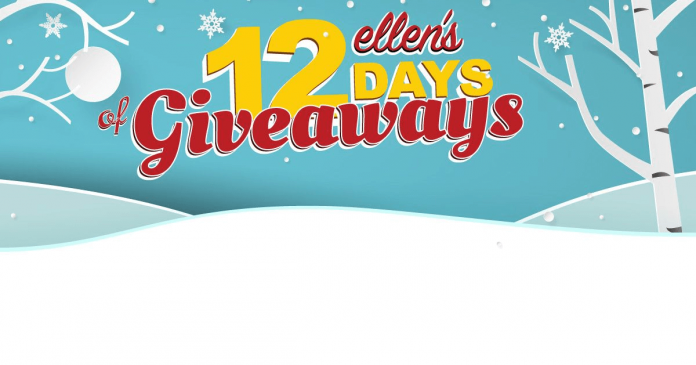 Ellen 12 days giveaways winners