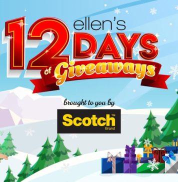 Ellen's 12 Days Of Giveaways 2018