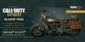 GameStop Call of Duty WW2 Indian Motorcycle Sweepstakes
