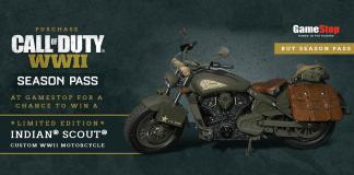 GameStop Call of Duty WW2 Indian Motorcycle Sweepstakes