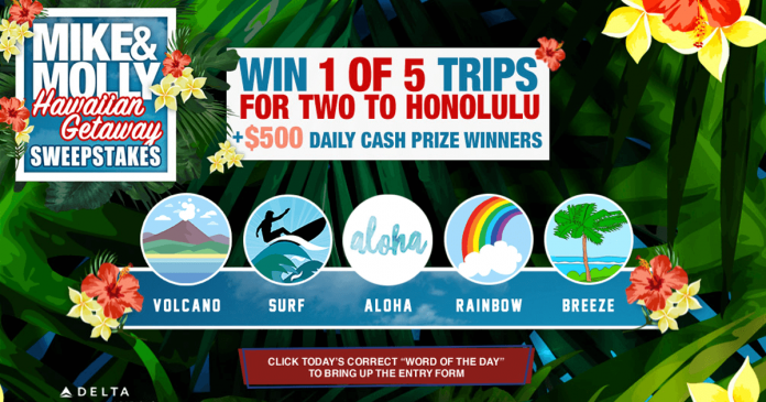Mike And Molly Sweepstakes: Hawaiian Getaway Word Of The Day