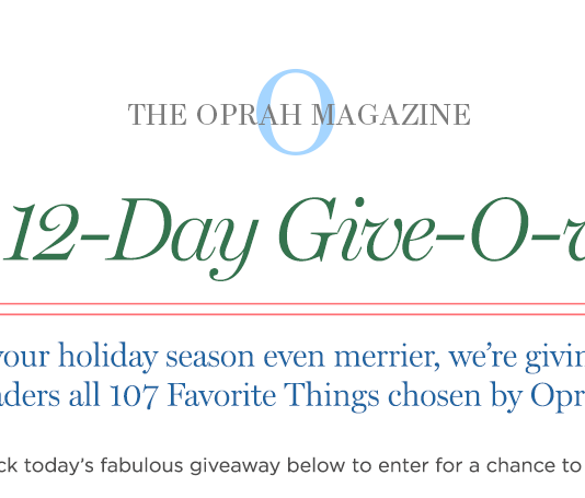 2018 Oprah 12 Days Give-O-Way Sweepstakes