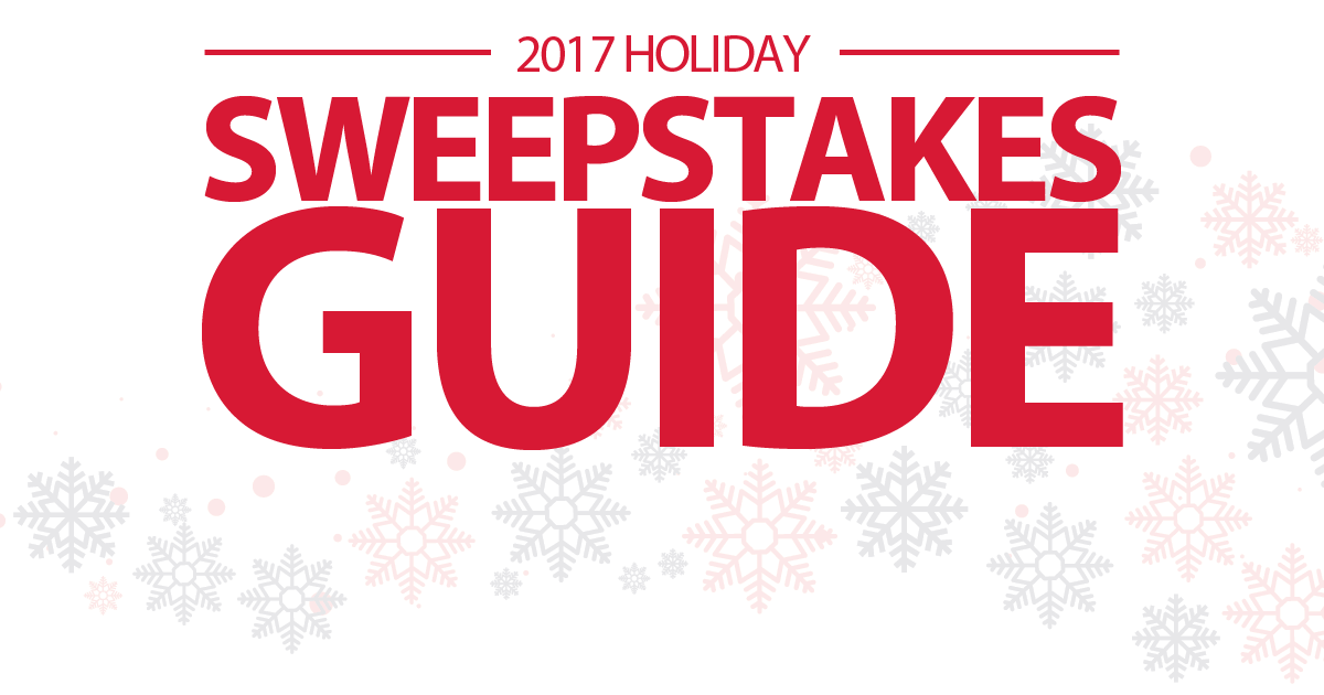 Holiday Sweepstakes Guide 2017 - Winzily