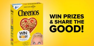 Ellen And Cheerios One Million Acts of Good Giveaway
