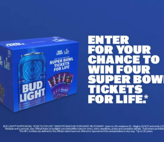 Bud Light Super Bowl Tickets For Life Contest