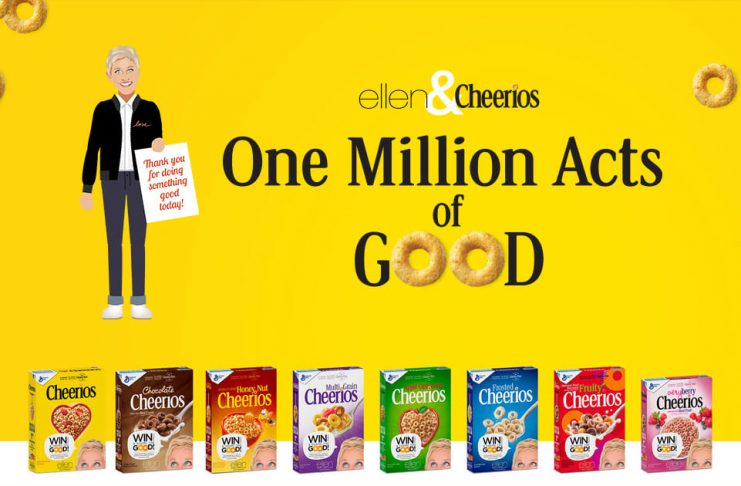 Ellen and Cheerios One Million Acts of Good Codes