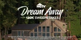 HGTV Dream Away With $20k Sweepstakes