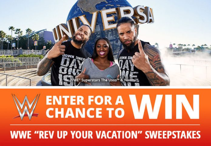 WWE Rev Up Your Vacation Sweepstakes
