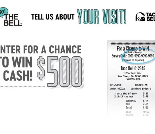 Taco Bell Tell The Bell Customer Survey Sweepstakes 2018