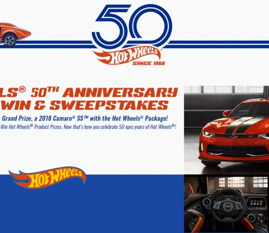 Hot Wheels 50th Anniversary Sweepstakes & Instant Win Game
