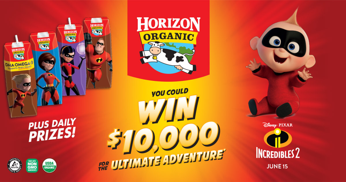 Horizon Organic Incredibles 2 Sweepstakes Win The