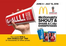 McDonald's FIFA World Cup Shout & Share A Coke Sweepstakes