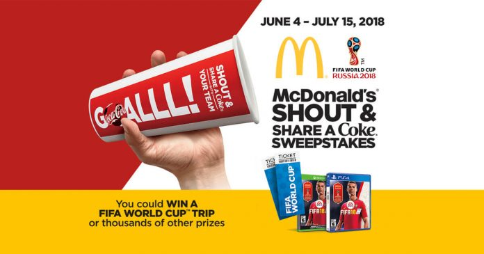 McDonald's FIFA World Cup Shout & Share A Coke Sweepstakes - Winzily