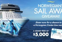 HGTV and Travel Channel Norwegians Sail Away Giveaway