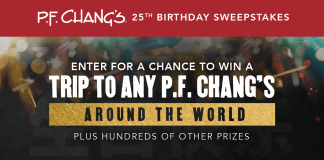 PF Changs 25th Birthday Sweepstakes