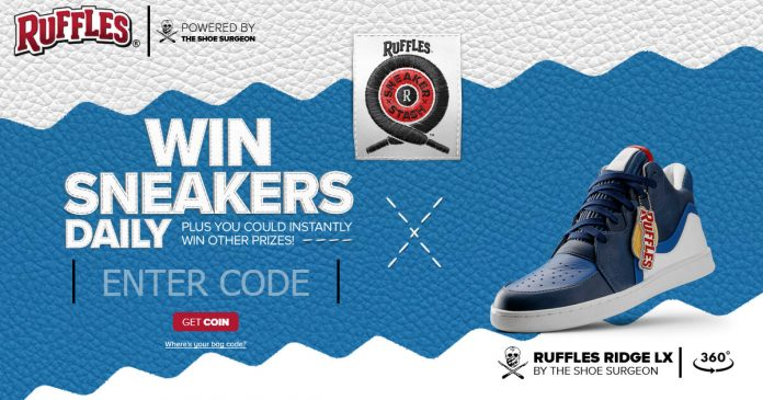 RUFFLES Sneaker Stash Sweepstakes and Instant Win Game