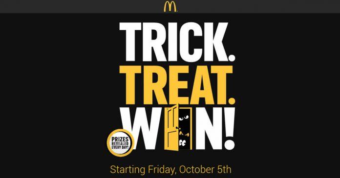 Trick Treat Win Game at McDonald's