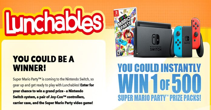 Lunchables Nintendo Mario Party Giveaway
