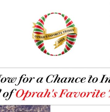 Oprah's Favorite Things 2018 Instant Win Sweepstakes