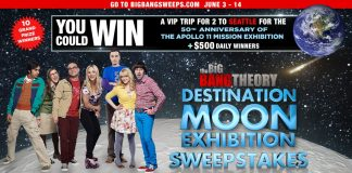 Big Bang Theory Destination Moon Sweepstakes