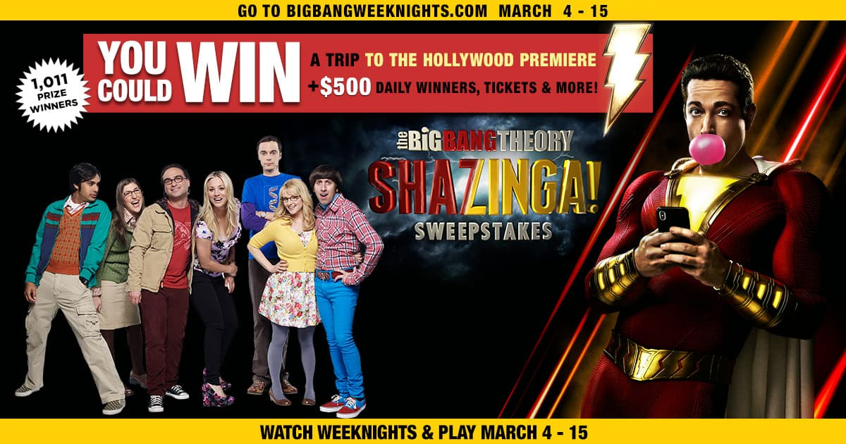 Big Bang Theory Shazinga Sweepstakes - Winzily