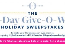 Oprah 12 Days Of Christmas Giveaway 2019