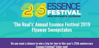 The Real Annual Essence Festival 2019 Flyaway Sweepstakes