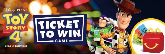 Ticket To Win Game at McDonald's (MagicAtMcD.com)