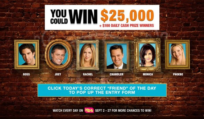 Friends25 Sweepstakes Daily Codes
