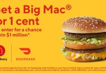 DoorDash 1 Cent Big Mac Promo And Sweepstakes at McDonald's