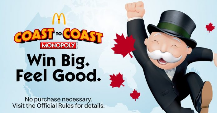 McDonalds Monopoly 2020 Canada Rare Pieces