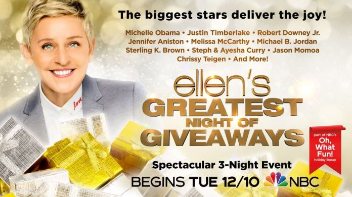 Ellen's Greatest Night of Giveaways Sweepstakes