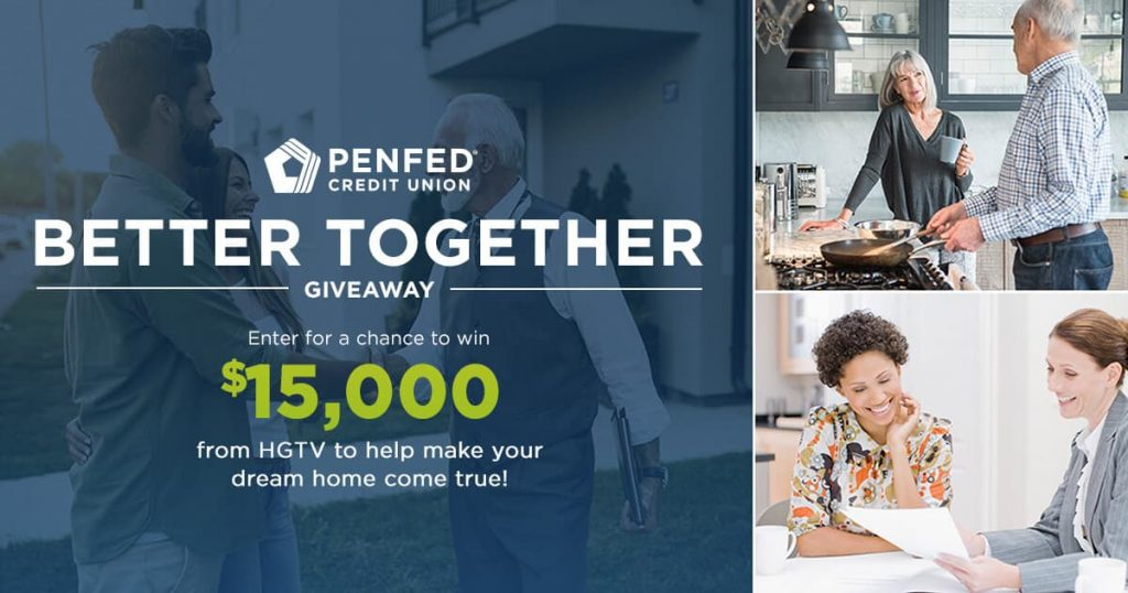 HGTV PenFed Better Together Giveaway 2020