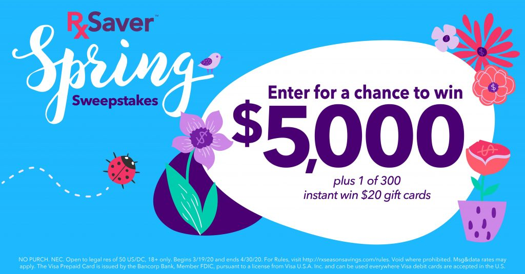 RxSaver Season Savings Sweepstakes 2020