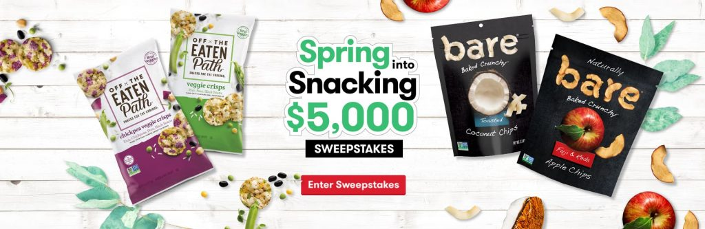 Tasty Rewards Spring Into Snacking $5,000 Sweepstakes 2020