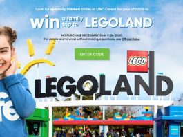 Quaker Life Cereal Legoland Instant Win Game