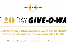 Oprah Magazine 20 Days Sweepstakes 2020