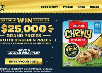 Quaker Chewy Golden Chewy Instant Win Game
